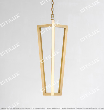 Minimal Stainless Steel Linear Chandelier Small Citilux