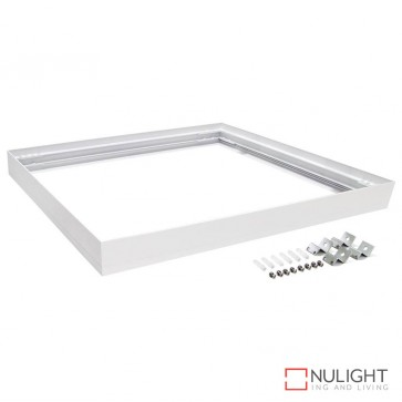 Sm Kit 606 Square Surface Mounted Panel Frame Satin White Frame DOM