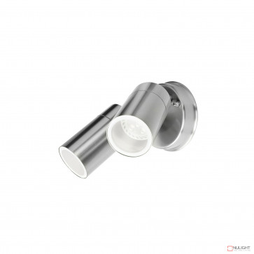 Denver-Ii 2 Light Round Exterior Spotlight Inc 4W Led Globes-Stainless Steel BRI
