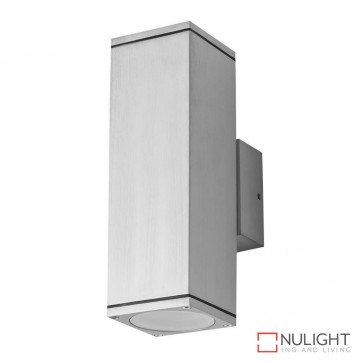 Alpha 2 Rectangular 240V Two Way Led Wall Light Anodised Finish Body Only DOM