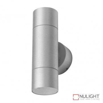 Elite 2 Cylindrical 240V Two Way Led Wall Light Anodised Finish Body Only DOM
