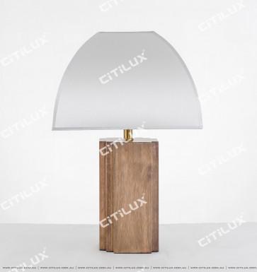 Vanessa Four Corner Wooden Table Lamp Citilux