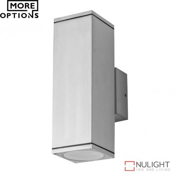 Alpha 2 Rectangular 240V 6W Two Way Led Wall Light Anodised Finish Led DOM