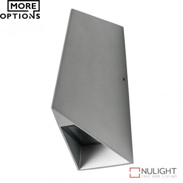X Wave Angular 240V 8W Led Wall Light Silver Finish Led DOM