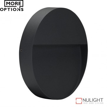 Zeke Round 9W Led Wall Light Dark Grey Finish Led DOM