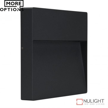 Zeke Square 9W Led Wall Light Dark Grey Finish Led DOM