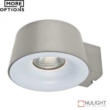 Cup 240V 10W Led Wall Light Silver Finish Led DOM