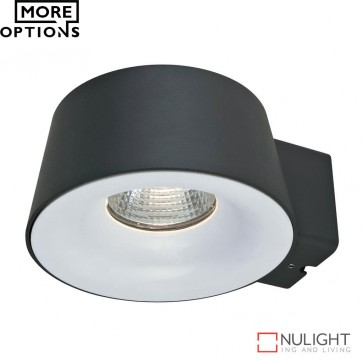 Cup 240V 10W Led Wall Light Dark Grey Finish Led DOM