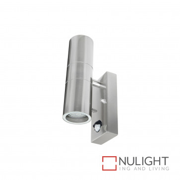 Denver-Ii Up And Down Wall Light With Sensor Inc 4W Led Globes-Stainless Steel BRI