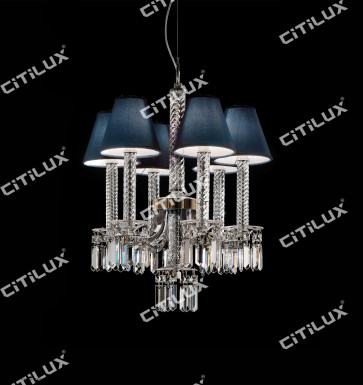 European Minimalist Crystal Chandelier Citilux