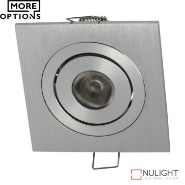 Power Puk 04 Square 700Ma 3W Led Cabinet Light Brushed Aluminium Frame Led DOM