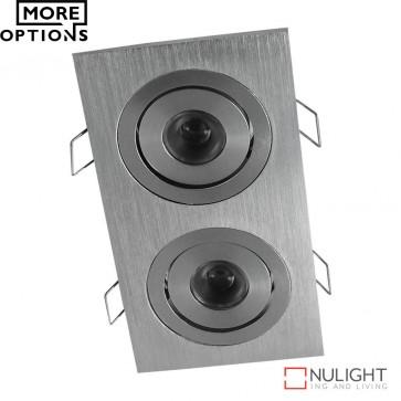 Power Puk 05 Rectangular 700Ma 2 X 3W Led Cabinet Light Brushed Aluminium Frame Led DOM