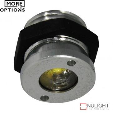 Power Puk 13 Round 350Ma 1W Led Cabinet Light Brushed Aluminium Frame Led DOM
