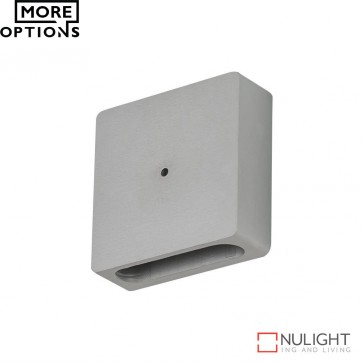 Allure Square Semi Recessed 1W Led Steplight Aluminium Finish Led DOM