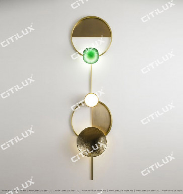 All Copper Gong Disc Large Wall Lamp Citilux
