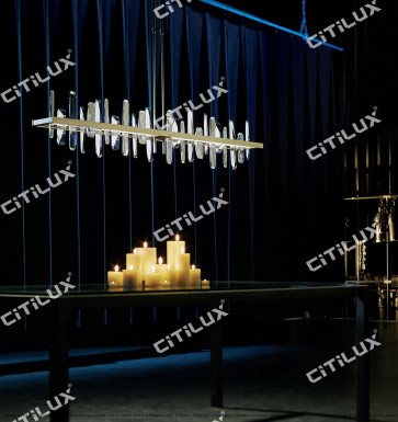 Crystal Staggered Simple Dining Chandelier Citilux