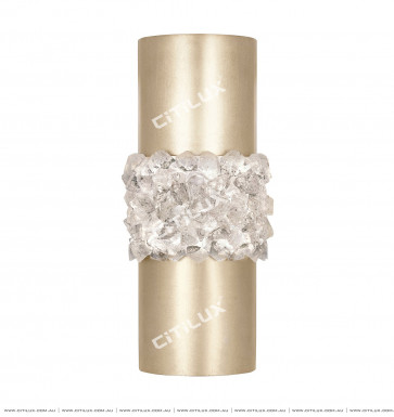 Simple American Copper Splicing Crystal Stone Straight Wall Lamp Citilux