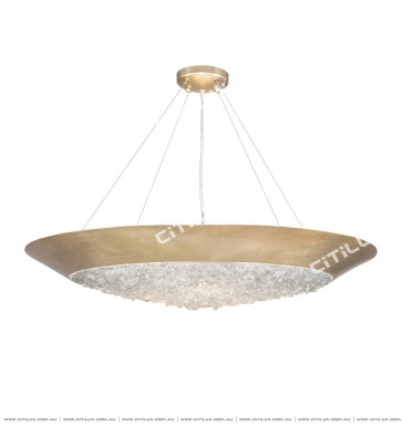 Simple American Copper Spelled Crystal Stone Curved Chandelier Copper Citilux