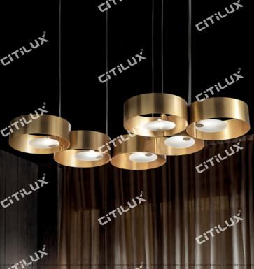 Lajin Zirconium Gold Ring Combination Simple Chandelier Citilux