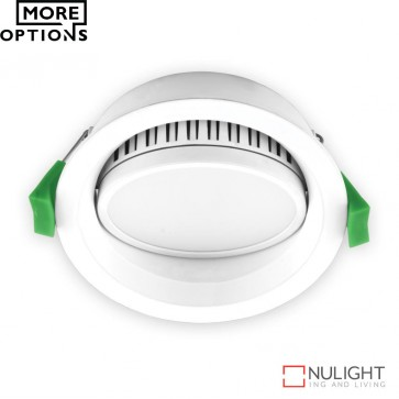 Deco Tilt Round 13W Dimmable Led Tilt Downlight White Frame Led DOM