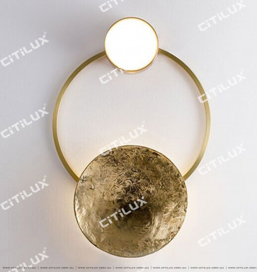 All Copper Gong Disc Small Wall Lamp Citilux