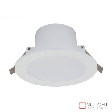 Poly 10 Round 10W Dimmable Led Downlight White Frame Warm White Led DOM