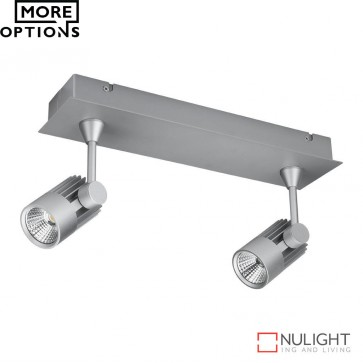 Jet 2B Twin Led Bar Spotlight Silver Finish Led DOM