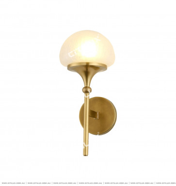 American Copper Mushroom Cover Single Head Wall Lamp Citilux