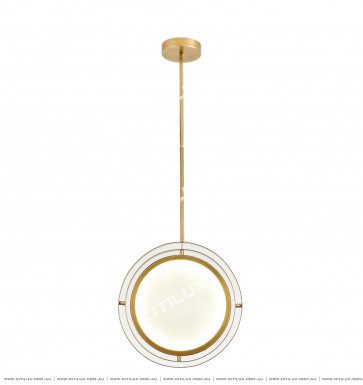 Minimalist Copper Round Led Chandelier / Adjustable Citilux