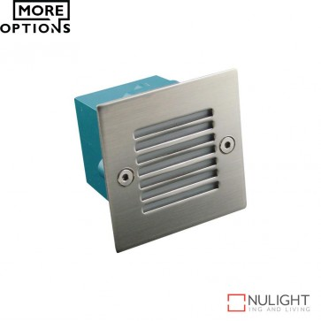 Led 833 Mini Square 240V 0.8W Recessed Led Steplight Stainless Steel Grille Led DOM