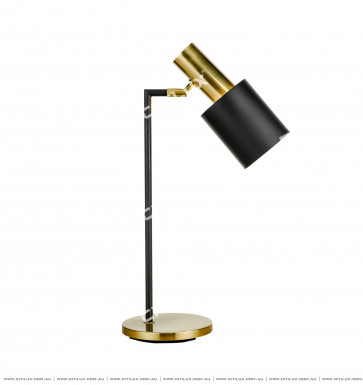American Black + Gold Table Lamp Citilux