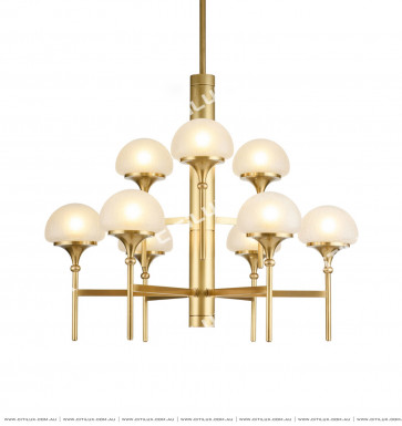 American Copper Mushroom Cover Chandelier Large Citilux