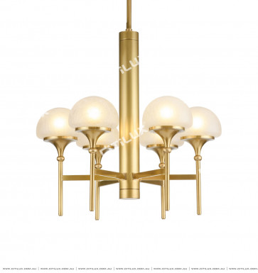 American Copper Mushroom Cover Chandelier Small Citilux