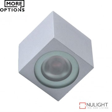 Cubic 1 Miniature 350Ma 1W Led Wall Light Silver Finish Led DOM