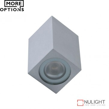 Cubic 2 Miniature 350Ma 2W Two Way Led Wall Light Silver Finish Led DOM