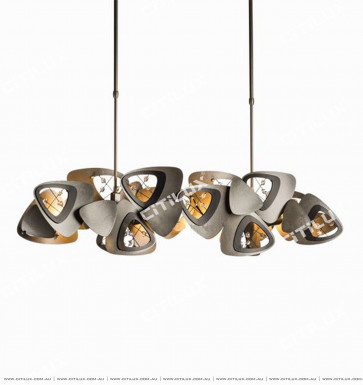Triangle Rounded Overlap Long Dining Chandelier Citilux