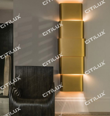 Modern Metal Minimalist Multi-Story Wall Lamp Citilux