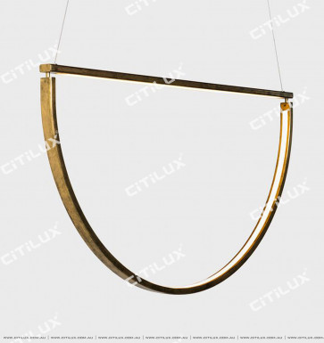 Pre-Sold Minimalist Metal Curved Led Single Head Chandelier Citilux