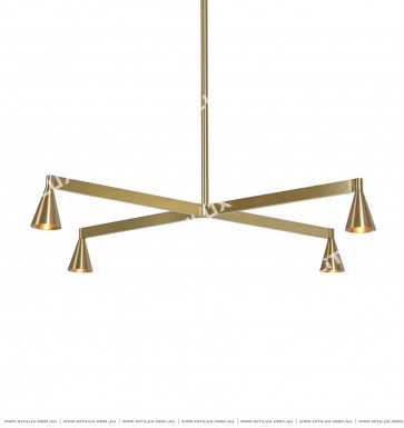 Metal Small Speaker Single-Tier Chandelier Citilux