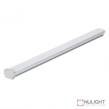 Opti Line Sm Surface Led Profile Natural Clear Anodised Finish Opal Diffuser DOM