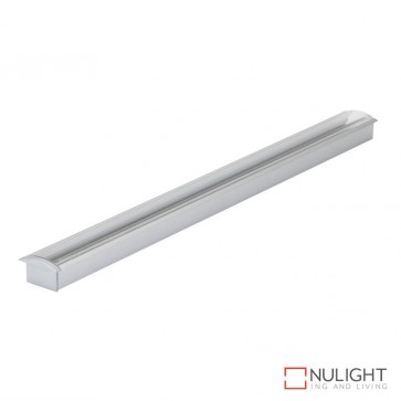 Opti Line Rec Recessed Led Profile Natural Clear Anodised Finish Clear Diffuser DOM