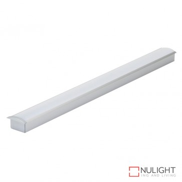 Opti Line Rec Recessed Led Profile Natural Clear Anodised Finish Opal Diffuser DOM