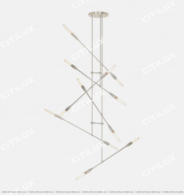 Pre-Sold Minimalist Metal Staggered Chandelier Citilux