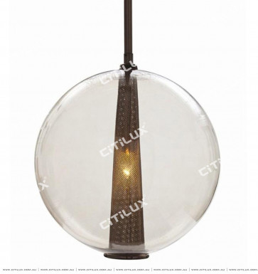 Ball Metal Grid Chandelier Coffee Copper Citilux
