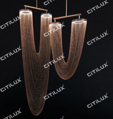 Metal Tassel Combination Chandelier Citilux