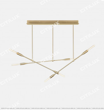 Minimalist Metal Staggered 6 Chandeliers Citilux