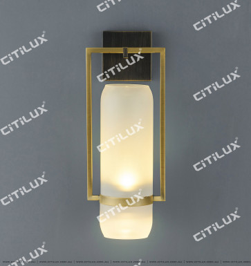 New Chinese Oil Lamp Glass Single Head Wall Light Citilux