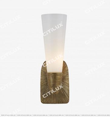 American Torch Single Head Wall Lamp Copper Color Citilux