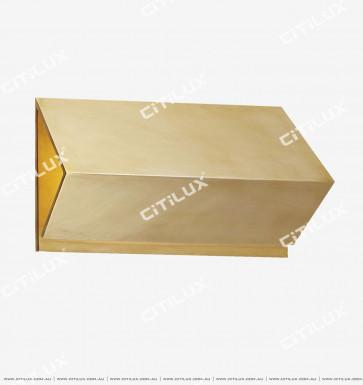 Minimalist Metal Folding Wall Lamp Copper Citilux