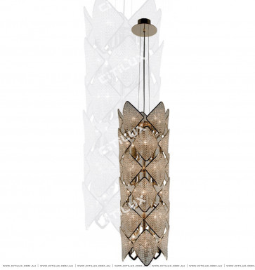 Modern Diamond-Shaped Crystal Ball Stair Chandelier Citilux